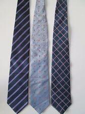 Men's Designer Ties - 1 PURPLE STRIPED - 1 PURPLE CHECKED - 1 BLUE SMALL SQUARES