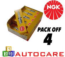 NGK Replacement Spark Plug set - 4 Pack - Part Number: BKR6E No. 6962 4pk