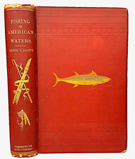 1875 Angler FISHING IN AMERICAN WATERS Trout Angling FATHERS DAY Fish Hunting US