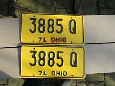 Vintage 1971 Ohio License Plates pair