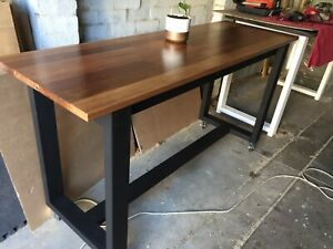 Hardwood Kitchen Island Bench Breakfast Bar Table Hardwood Brand New Trolley
