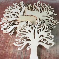 10pcs hölzerne Baum Verzierungen für das Handwerk 12,5 cm blankes Holz Deko