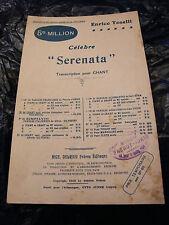 Enrico Toselli Serenata Partizione 1919