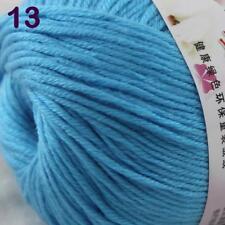 Sale New 1Ball x 50g Cashmere Silk Wool Hand Knit Wrap Shawls Crochet Yarn 13