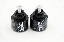 Carbon Bar Ends Logo Hand Grip Handlebar End Caps For Honda CBR 900RR 1993-1999