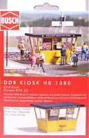 H0 BUSCH DDR Kiosk GDR Bahnhof Busbahnhof Zeitung Eis Lotto Fahrschein # 1380
