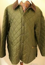 "BARBOUR  XXL 52-54"" GREEN QUILTED OUTDOOR MENS BARBOUR JACKET"