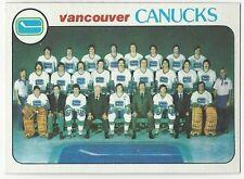 1978-79 TOPPS HOCKEY #207 CANUCKS CHECKLIST - NEAR MINT-