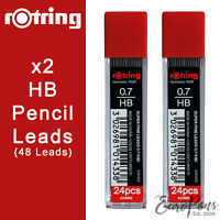 48 Pencil Leads 0.7mm HB Refills for Mechanical Pencils by Rotring