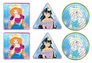 6 Ice Princess Maze Puzzles - Games Pinata Toy Loot/Party Bag Fillers Kids