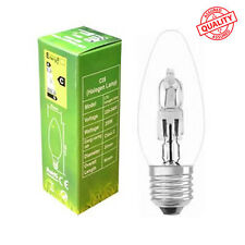 10 x 28W = 40W E27 ES Candle GLS Energy Saving Halogen Dimmable Long Life Bulb