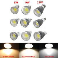 Dimmable 6W/9W/12W MR16 GU10 E27 E14 LED COB Spot Down Light Lamp Spotlight Bulb