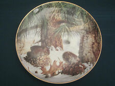 Pine Voles Collector Plate Geoff Mowery December Country Diary Franklin Mint