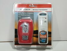 AcuRite Wireless Thermometer Clock, Red