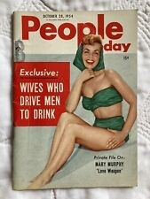 People Magazine Oct 20 1954 NY USA Mary Murphy Eartha Kitt Sophia Loren Articles