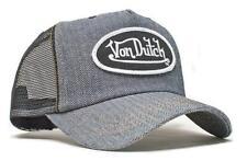 Authentic Brand New Von Dutch Raw Herringbone Denim Cap Hat Mesh Snapback