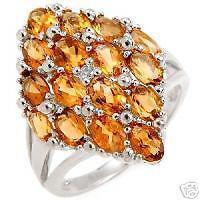Exquisite Ring With 4.00ctw Precious Stones Size 7.25.