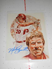 MIKE SCHMIDT SIGNED LIMITED EDITION LITHOGRAPH W/ COA 8X10 PHILLIES HOF