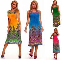 Abito Donna Vestito Lungo Vestitino SPICY Fashion 4153-B072 Tg Unica veste S/L *
