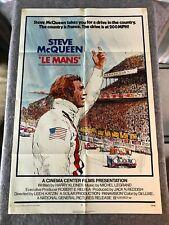 "LE MANS 1971 ORIGINAL 1 SHEET MOVIE POSTER 27""x41"" (VG) STEVE MCQUEEN THRILLER"