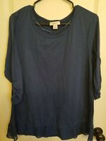 Style&Co Macy's Womens Navy Top Size XL