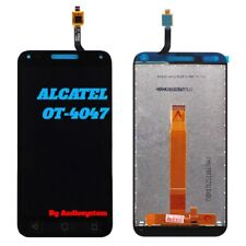DISPLAY LCD+TOUCH SCREEN per ALCATEL ONE TOUCH U5 3G OT-4047D 4047X NERO VETRO