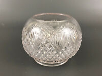 Indiana Tumbler & Goblet Co. clear pressed glass rose bowl OVERALL LATTICE 1890s