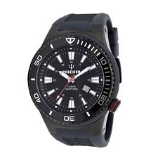 POSEIDON Armbanduhr XL Black, Analog, Quarz, Silikon, 15Bar, Saphirglas UP00611