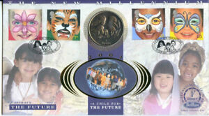 2001 Benham The Future Coin Cover with Gibraltar 1 Royal Coin