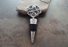 Handmade Oxidized Silver Octopus Wine Bottle Stopper