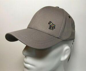 New PS Paul Smith Cotton Zebra Logo Baseball Cap / Hat in Grey