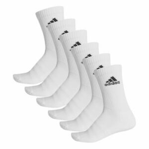 Adidas Sports Cushioned Crew Socks 6 Pairs - Unisex - White