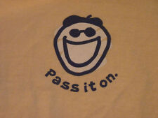 LIFE IS GOOD Siimply Yellow Pass It On SS T Shirt Tee NWT Womens Size M $32