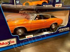 Maisto 1:18 Scale Diecast Model - 1971 Chevrolet Chevelle 454 SS Coupe (Orange)