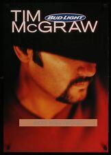 Original 2001 Tim Mcgraw Budweiser Beer Promo Poster Free Shipping to Man Cave