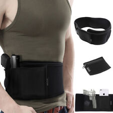 Hot Sale Waist Band Belly Band Holster Concealed Gun Carry with Zipper Pouch BK