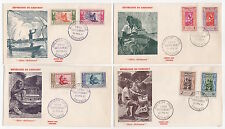 DAHOMET  7 FDC enveloppes timbres 1er jour /FDC121