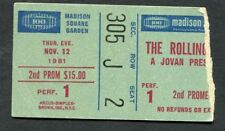 1981 Rolling Stones Tattoo You Concert Ticket Stub Madison Square Garden NY