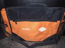 HARLEY-DAVIDSON Heavy Duty Messenger Computer Overnight Bag Rare HARLEY Orange !