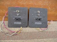 2x Sylvania 50 watts 8 ohms 2 ways crossover great condition. w/tested. u.s.a