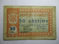 BILLETE DE  50  CENTIMOS 1937 MUNICIPI D'ANGLES