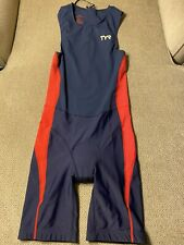 Men's TYR Triathlon Tri Suit Skinsuit Speedsuit Cycling Medium M