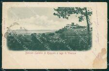Biella Castello di Roppolo Lago Viverone MACCHIA PIEGA STRAPPINO cartolina XB246