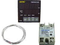 Sestos D1S-VR-220 Digital Pid Temperature Controller + pt100 +40 ssr relay fan