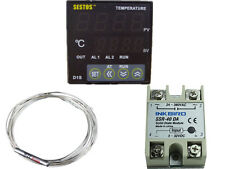 Sestos D1S-VR-220 Digital Pid Temperature Controller + pt100 +40 ssr relay fan