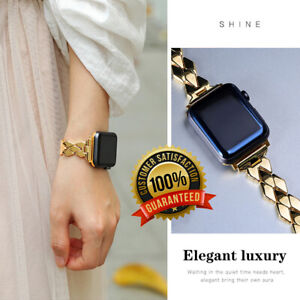 Ladies Luxury Elegant Stainless Steel Replacement Band Strap For Apple iWatch