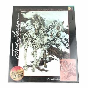 Crow Ponies 1000 Piece Jigsaw Puzzle 01123 Concealed Imagery Judy Larson Horses