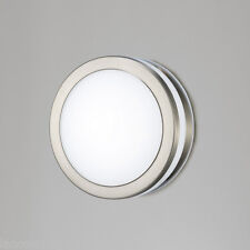 Aldo D0080 Outdoor LED Wall / Ceiling Light In Stainless Steel & Opal Shade IP44