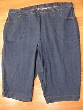 Womens Plus Size 3X 22W 24W JMS Just My Size Elastic Waist Capri Jeans Pants
