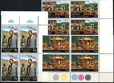 Ascension Islands 1977 Silver Jubilee MNH Corner Blocks Set #D51314